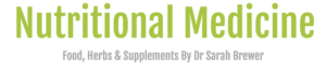 Nutritional Medicine Food, Herbs & Supplements By Dr Sarah Brewer